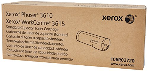 - Genuine Xerox Black Standard Capacity Toner Cartridge (106R02720) - 5,900 Pages for use in Phaser 3610, WorkCentre 3615