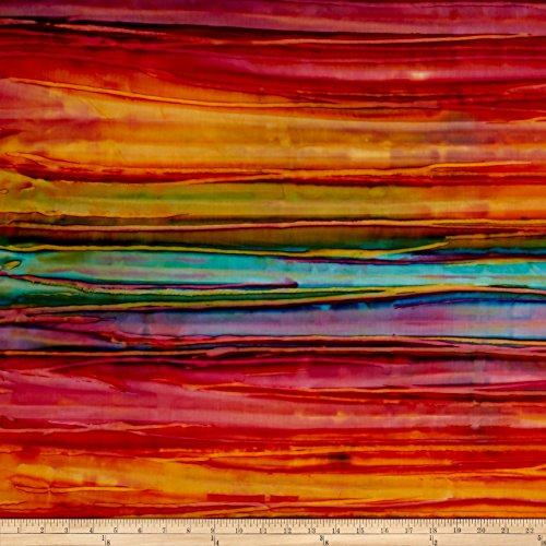 (Robert Kaufman Kaufman Artisan Batiks Patina Handpaints Bold Stripes Wild Fabric by The Yard,)