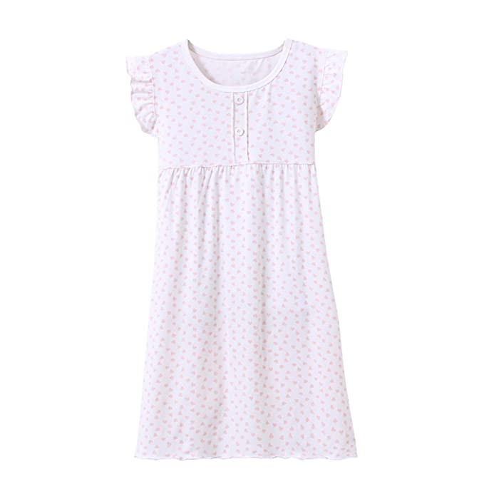 ba79575ee6 Zegoo Toddler Girls Cotton Nightdress Heart Nightie Age 11-12 ...