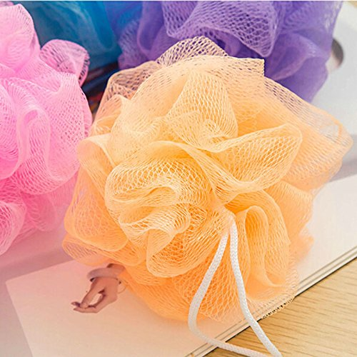 Bathroom Parts Body Mop, Bath Flower, Ball Sponge Shower Soft Sponge Bubbles Foaming Mesh Net Loofah Cleaning Wash Body (Jane Iredale Flocked Sponge)