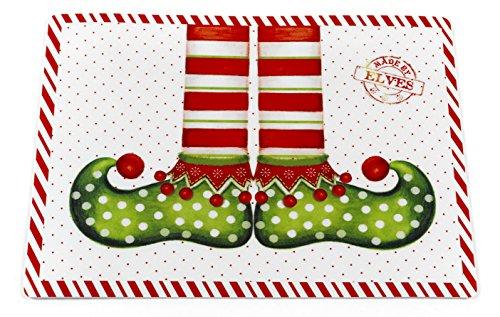 (Bon Appetit Santa's Milk 'N Cookies Collection Set of 6 Expanded Foam Vinyl Placemat (18