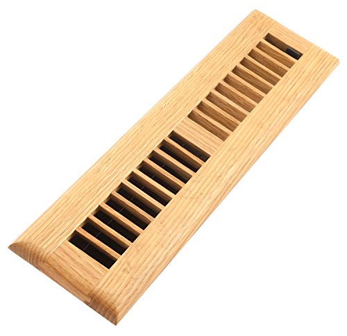 Accord AOFROLL212 Floor Register with Oak Louvered, 2-Inch x 12-Inch(Duct Opening Measurements), Light - Floor Register Wood Vent Inch 12