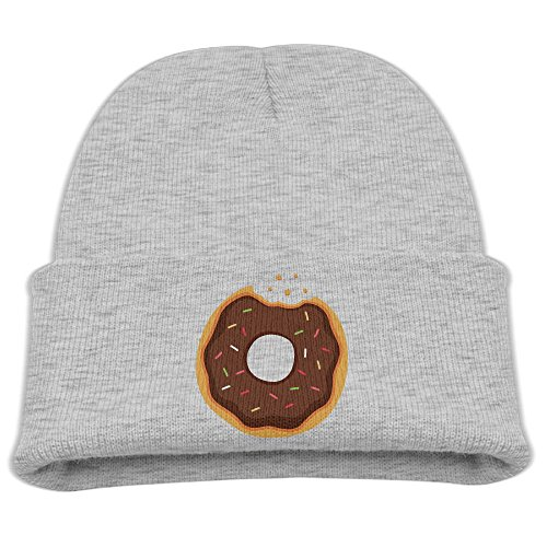 Chocolate Frosted Sprinkle Donut Boys Attractive Beanie Warm Universal Knitted Beanie Skull Cap -