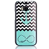 For HTC One (M8) , Leathlux [Black & White] Waves and Anchor Hard Plastic Back Case Protective Skin Cover for HTC One (M8) / HTC One (M8) CDMA
