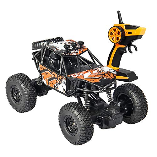 eed Full-Scale Double-Wheeler Pickup Truck Car Remote Buggy Kids Toys Model (Orange) ()