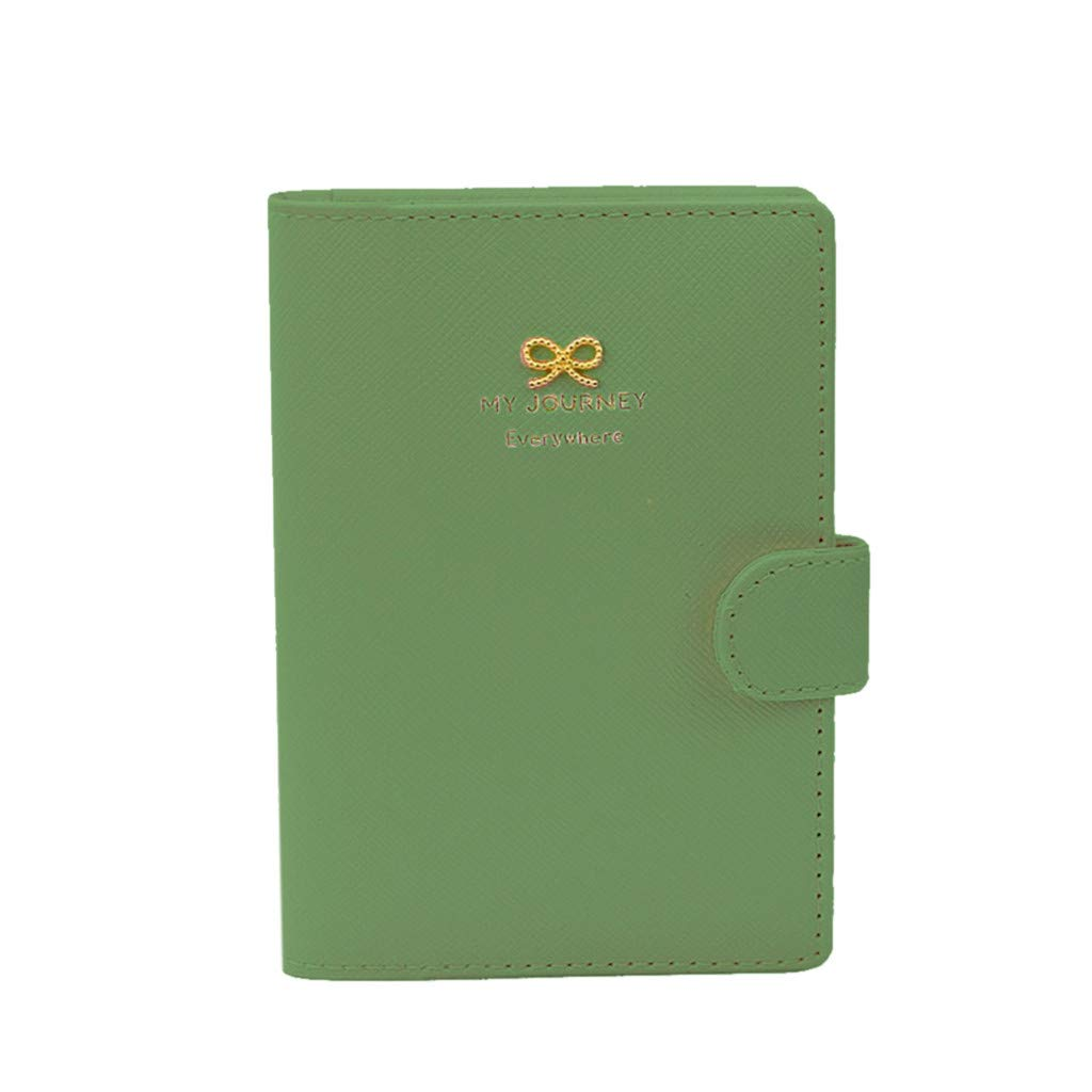 Hot Pink Nesee Travel Journey Passport Holder Protect Cover Case Organizer Ticket ID Card Holder Case Wallet