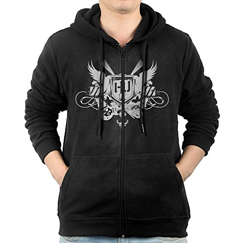 Hollywood Zipper (Hollywood Undead Men's Fashion Zipper Hooded Sweater With Pocket Black M)