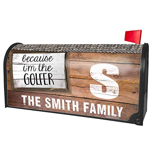 NEONBLOND Custom Mailbox Cover Because I'm The Golfer Funny Saying
