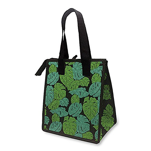 Hawaiian Insulated Lunch Bag Monstera Black by Welcome to the Islands