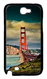 Bridge Iphone Wallpapers Polycarbonate Hard Case Cover for Samsung Galaxy Note 2/ Note II/ N7100 Black