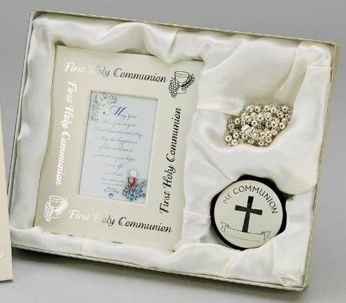Communion Pewter Rosary Box (Malco First Holy Communion Set Retired - Communion Religious Pewter Gifts 23294C13-13271)