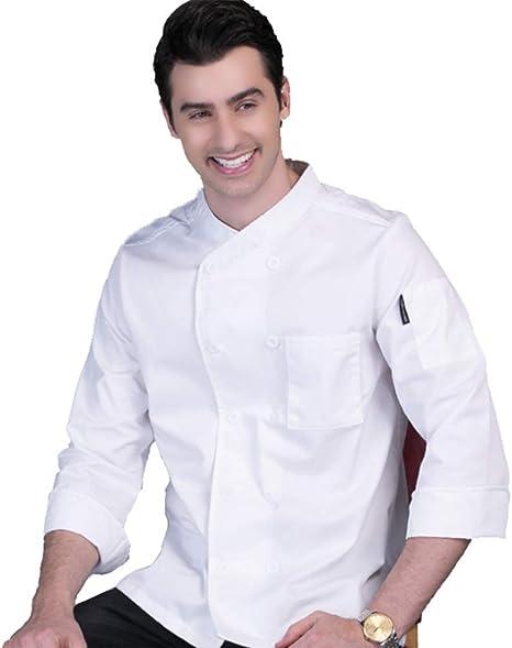 Jolie Hombres Mujeres Sencillo Chaqueta Chef Básico Cocinero Uniformes Manga Larga Restaurante Hotel Café Camisas de Camarero: Amazon.es: Deportes y aire libre