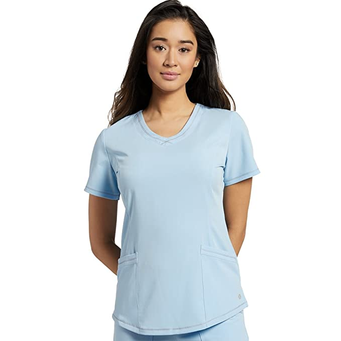 f0aba974673 Image Unavailable. Image not available for. Color: Marvella by White Cross  Women's Round V-Neck Stitched Solid Scrub Top ...