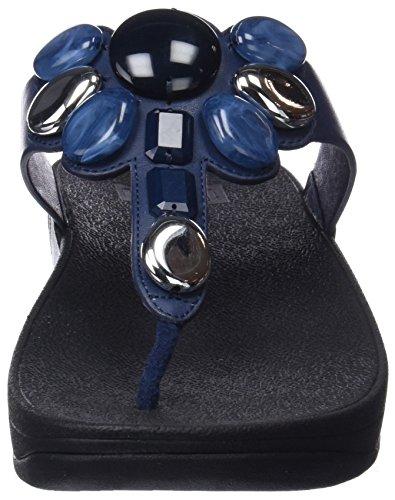 FitFlop Honeybee Midnight Navy Noir Tongs Thong Bleu Femme 399 Toe rrdPwq