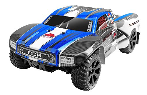 (Redcat Racing Blackout SC 1/10 Scale Electric Short Course Truck with Waterproof Electronics Vehicle, Blue)