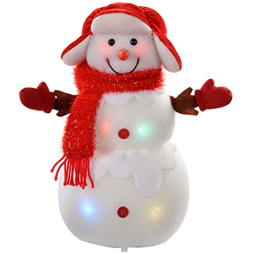 WeRChristmas Snowman with Colour Changing LED Body and Face ...