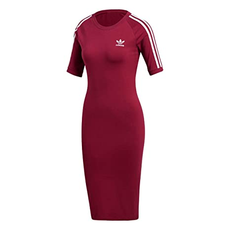 Adidas 3 Stripes Dress Camiseta, Mujer, Rojo (rubí Misterio), 36