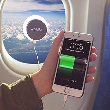 GreenLighting Solar Phone Charger - 2000mAh Window Cling Power Bank (Grey)