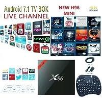 X96 Mini Android 7.1 TV Box Amlogic S905W Quad-core 64 Bit DDR3 1GB 8GB 4K UHD WiFi & LAN VP9 DLNA H.265 - With Backlight Air Mouse