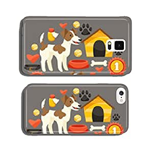 Set of icons and objects with cute dogs. cell phone cover case iPhone6 Plus