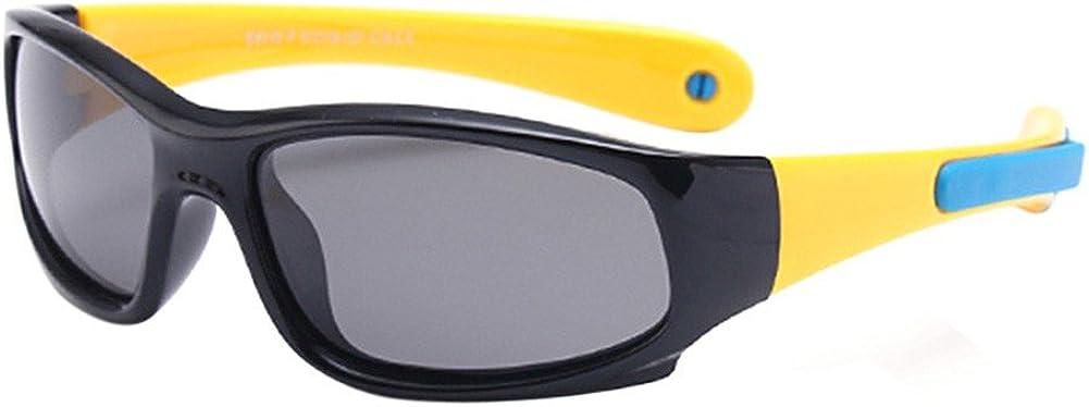 Blaward Bambino Occhiali da Sole Occhiali Sportivi per Ragazzi e Ragazze Protezione UV 400 Indistruttibili in Gomma Flessibile 3-12 anni