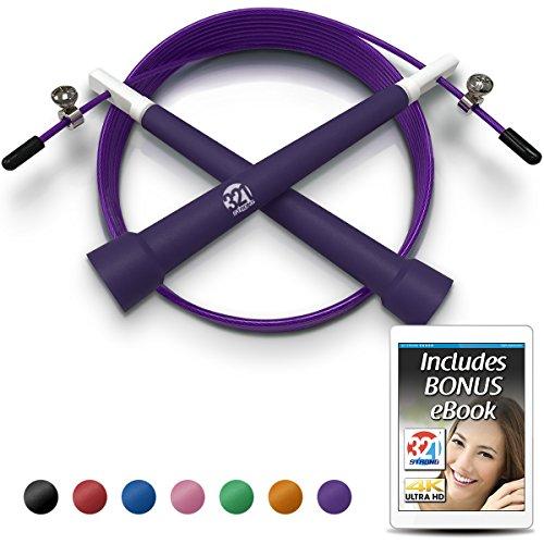 Plastic Jump Rope - Purple - Grad 7' Cap