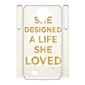 3D Yearinspace Downton Abbey Quotes She Designed A Life She Loved Case For Samsung Galaxy S4 Men Design, Case For Samsung Galaxy S4 Mini For Girls For Women Protective With White