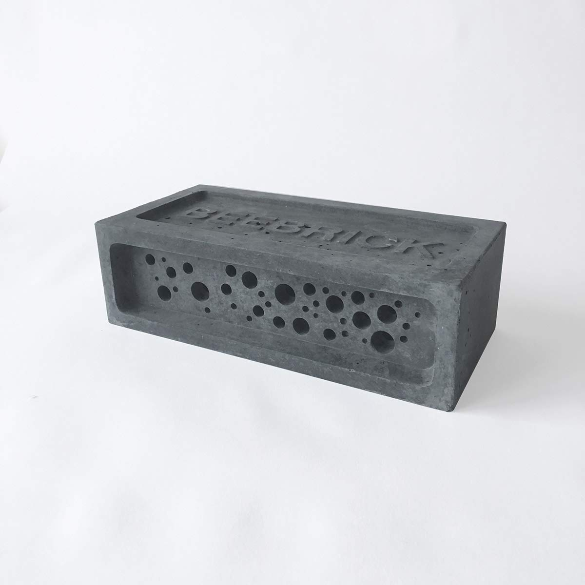 Bee Brick Nester Hotel Solitary Bee Hive House 21.5cm x 10.5cm x 6.5cm Charcoal Green And Blue