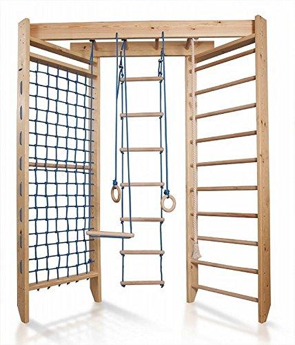 Sprossenwand Holz - Klettergerüst Indoor Holz - Sportecke Kinderzimmer