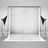 Everblue Tk 5x7ft Photography Pattern Backdrop Cotton Collapsible White Background Vertical Wood Pattern Booth Shoot Backdrop for Adult,Child,Animal,Gift J01771 by Everblue Tk