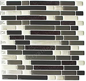 """durable modeling Crystiles® Peel and Stick Self-Adhesive Vinyl Wall Tiles, Item# 91010820, 10"""" X 10"""", Set of 6"""
