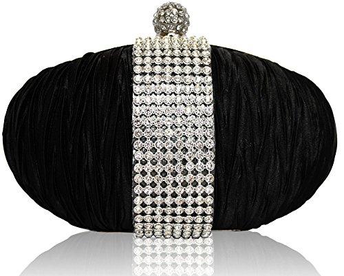 Con brillantes de Graceful lámpara de techo con cristales de raso diseño de diamantes pomo para puerta negro