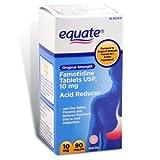 Equate - Acid Controller, Original Strength 10 mg, 90 Tablets Compare to Pepcid AC Acid Reducer