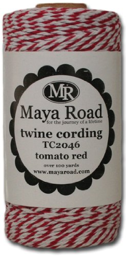 Maya Road Baker's Twine Cording, Tomato Red