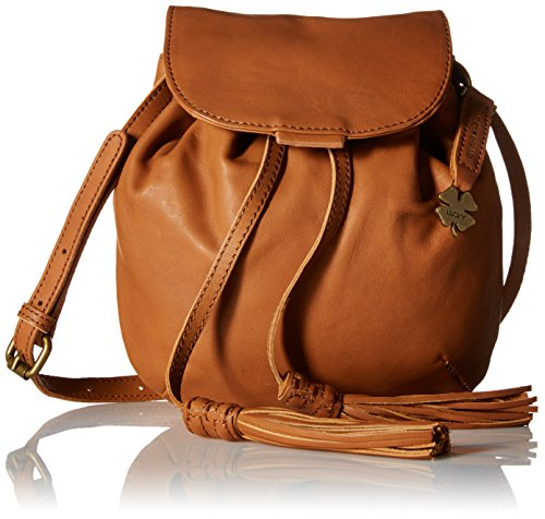 Lucky Brand Jordan Leather Mini Cross Body Bag, Tobacco, One Size by Lucky Brand