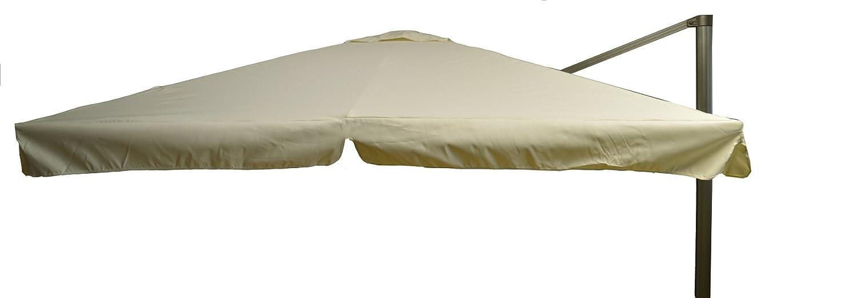 beo Sonnenschirme wasserabweisend ohne Standfuß Sonnenschutz, eckig, 3 x 3 m, beige