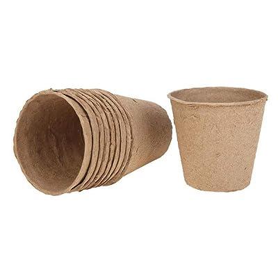 Ruipunuosi 100PCS 88cm Nursery Pot Environmental Protection Degradable Seedling Cup Paper Garden Supplies Durable Home Balcony Garden Flower Pot: Garden & Outdoor