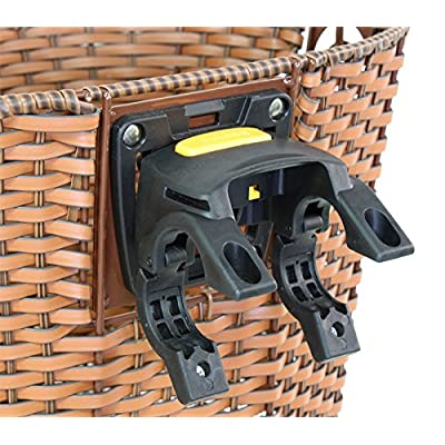 SUNLITE Deluxe Rattan Quick Release Basket, 13.5 x 10.25 x 10.25, Brown : Bike Baskets : Sports & Outdoors