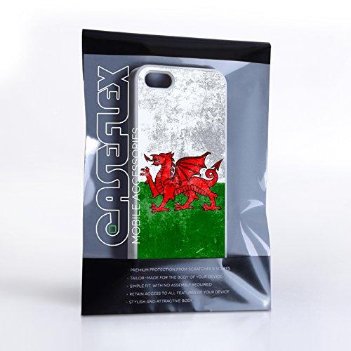 Caseflex Coque iPhone 5 / 5S Rétro Pays de Galles Drapeau Dur Housse