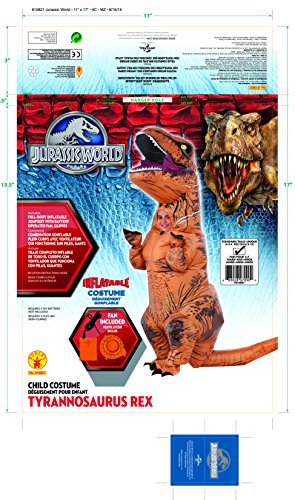 Rubies-Costume-Co-Jurassic-World-T-Rex-Inflatable-Costume-Childs-age-5-to-7-Years