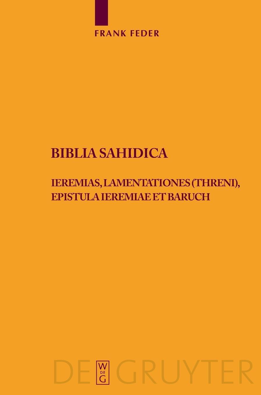 Download Biblia Sahidica (Texte Und Untersuchungen Zur Geschichte der Altchristlichen) (German Edition) pdf epub