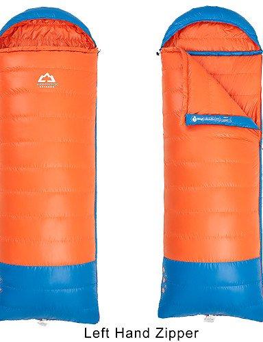 ZZL Schlafsack ( Grün/Orange ) - Atmungsaktivität/Winddicht/warm halten/Videokompression/rechteckig/Kaltes Wetter - Entendaunen/Polyester