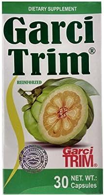 Garcinia Cambogia Reinforzed Garci Trim Reforzada, 30 Capsules 500 mg Dietary Supplement, Weight Loss, Reinforzed with Pineapple, Red Tea, Green Tea, Grapefruit, Plum and Mint