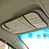Tianmei Simple Fasion Business Styling Car Sun Visor CD Holder CD Storage Flannelette Color Beige