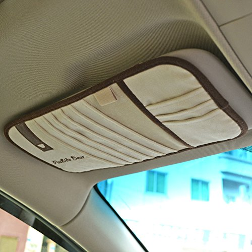 Tianmei Simple Fasion Business Styling Car Sun Visor CD Holder CD Storage Flannelette Color (Sun Visor Covers)