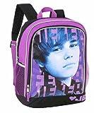 Justin Bieber Bieber Backpack – Purple and Black 16″, Bags Central