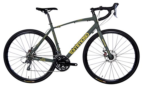 Tommaso Sterrata Adventure Disc Road Bike - Matte Green - XS Tommaso