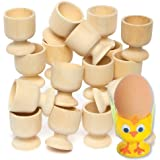 Baker Ross Wooden Egg Cup to Paint & Decorate, 48mm High Children's Easter Classroom Activity (Pack of 6)