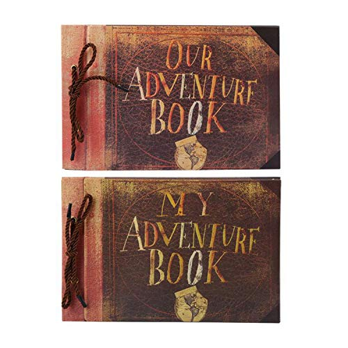 ndmade Cartoon Photo Album Adventure Book Wedding Stickers Scrapbook Our & My Adventure Movie Scrapbook Album,Our Adventure ()