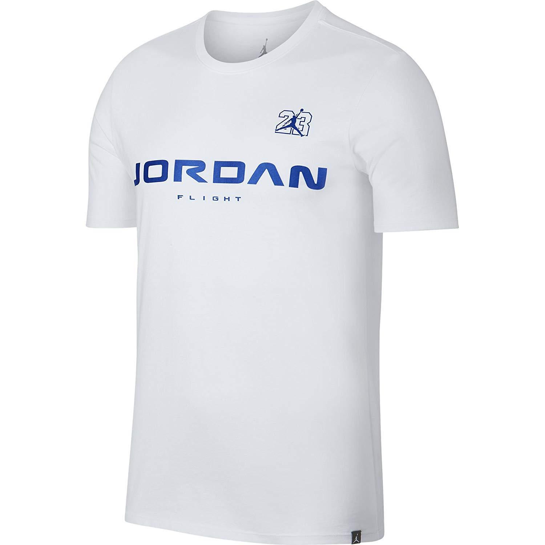 e8cd29c5470 Amazon.com: Jordan Retro 13 JSW Men's Casual Fashion T-Shirt White/Hyper  Royal aj7375-100: Clothing